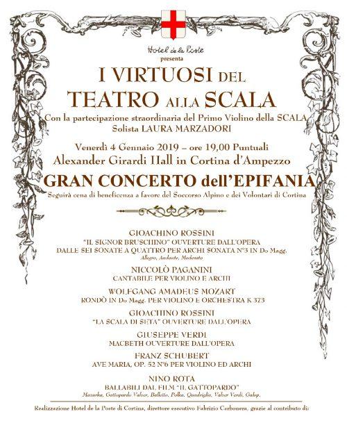 GRAN CONCERTO DELL'EPIFANIA con i Virtuosi del Teatro alla Scala di Milano